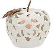 Porcelain Fruit Luminary with Gold Leaf Accents by Home Reflections - H204576