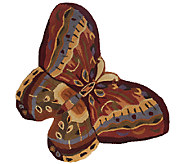 As Is Royal Palace Butterfly Radiance 26 x 36 Wool Rug - H206976