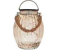 Illuminated 10 Ribbed Vintage Glass Lantern by Valerie - H207676