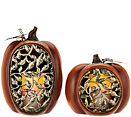 2-pc Flameless Candle Pumpkin Luminaries by Home Reflections - H208876