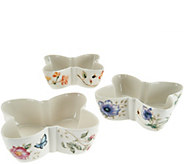 Lenox Butterfly Meadow 3-pc Figural Bowl Set - H208976