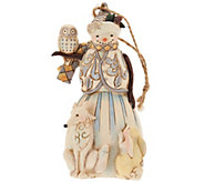 Jim Shore Heartwood Creek Woodland Snowman Ornament - H209676