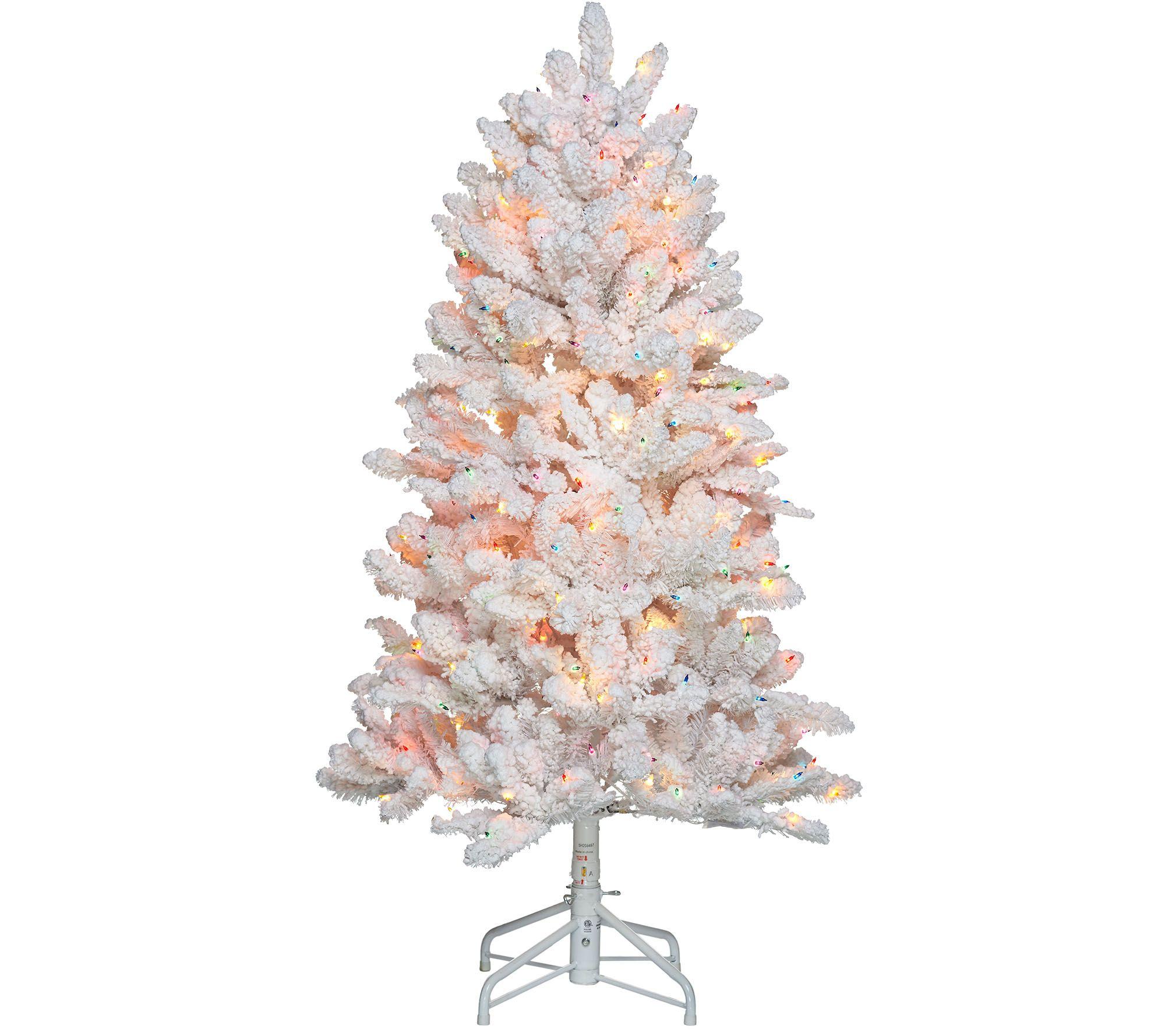 """""""As Is"""" Bethlehem Lights 5' Hudson Flocked Christmas Tree"""