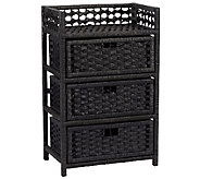 Household Essentials Paper Rope Three-Drawer Chest - H285076