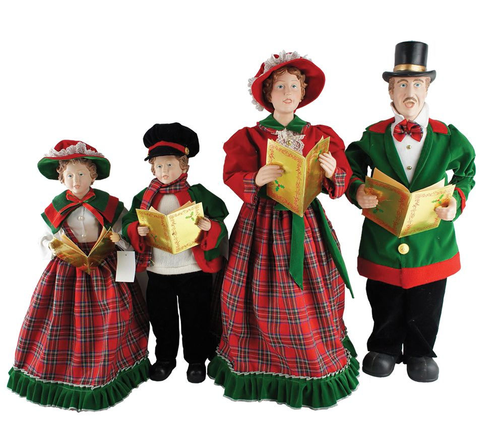 """27 In To 37 In Christmas Day Carolers With Songbooks 4: Set Of 4 20"""" To 27"""" Christmas Day Carolers By Santa's"""