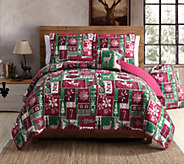 VCNY Home Holiday Patch 4-Piece Twin XL Comforter Set - H290776