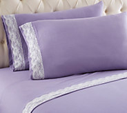 Shavel Micro Flannel Lace Edged Full Sheet Set - H291576
