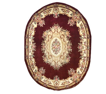 Royal Palace Victorian Aubusson 8 X10 Oval Wool Rug