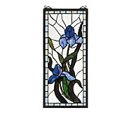 Tiffany Style Iris Window Panel - H123477