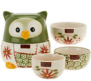 Temp-tations Old World Owl Set of 4 Nesting Measuring Cups - H198477