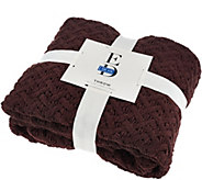 ED On Air 50x70 Chunky Becket Knit Throw by Ellen DeGeneres - H206177