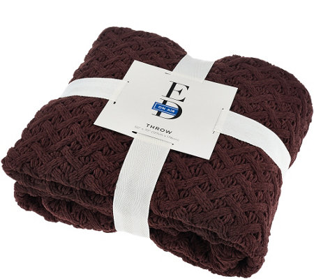 Ed On Air 50 Quot X70 Quot Chunky Becket Knit Throw By Ellen