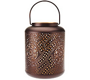 9 Punched Pattern Metal Lantern by Home Reflections - H207677