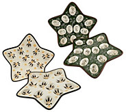 Temp-tations Old World or Floral Lace S/2 Star Shaped Egg Trays - H208277