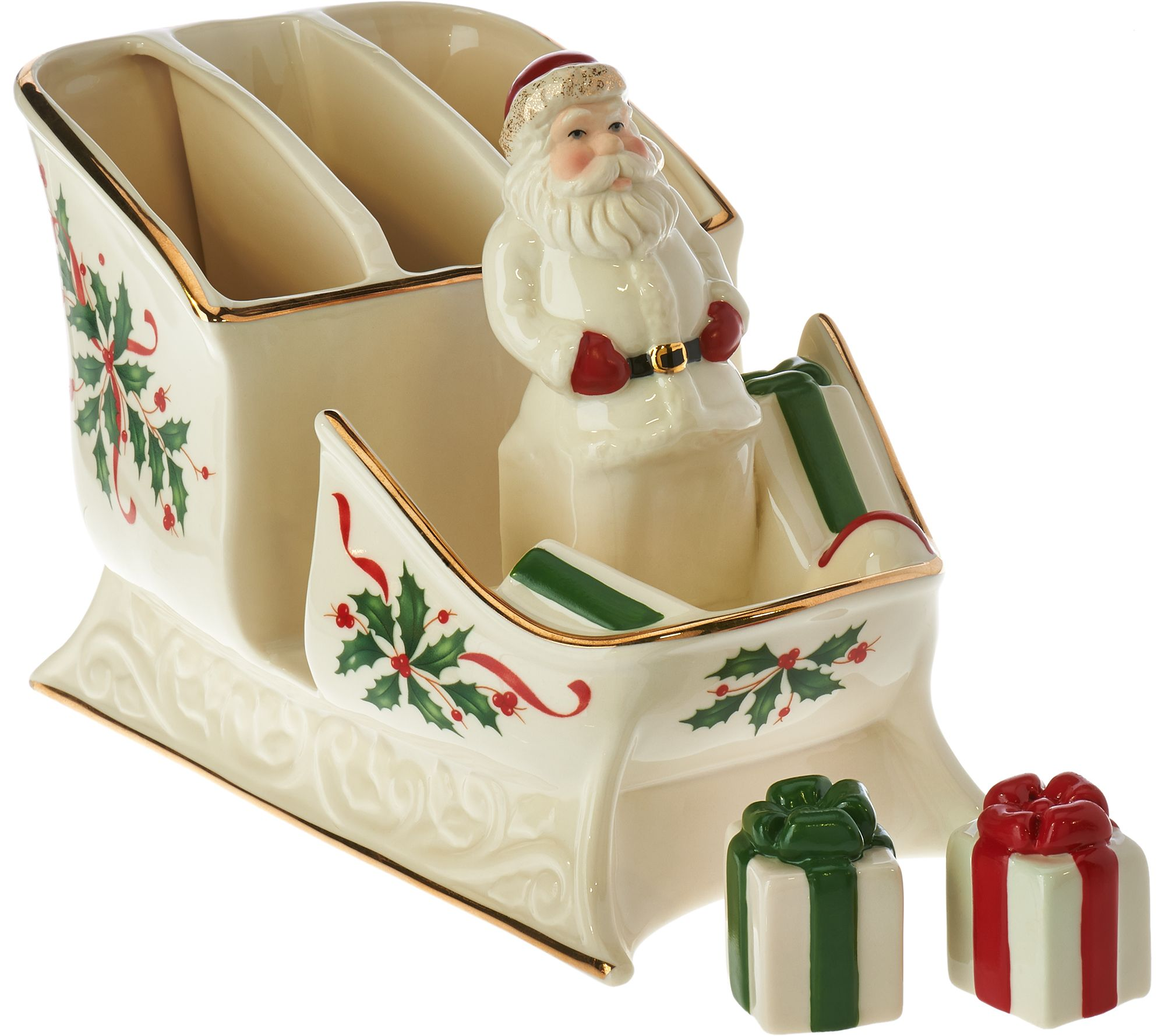 Lenox holiday caddy centerpiece with salt pepper
