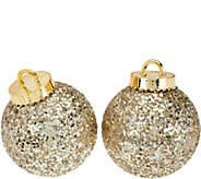 Kringle Express S/2 Glittered & Sequined Indoor/Outdoor 8 Ornaments - H208877