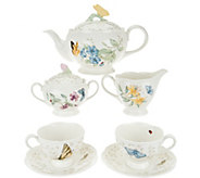 Lenox Butterfly Meadow Porcelain 9-pc Tea Set - H208977