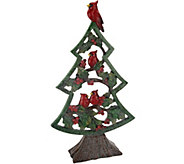 Holiday 16 Slim Winter Tree with Cardinals & Holly - H209077