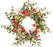 22 Wildflower Blossom Wreath by Valerie - H213777