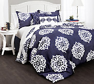Sophie Comforters Navy 7-Piece Queen Set by Lush Decor - H287277