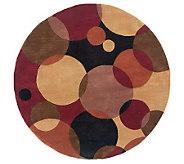 Momeni New Wave Circles 59 Round Handmade Wool Rug - H161778