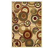 Lyndhurst 53 x 76 Modern Circles Power Loomed Rug - H181178