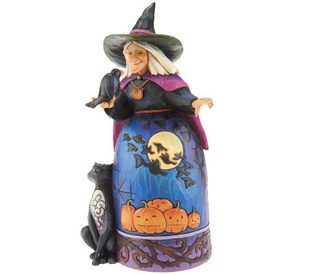 Jim Shore Heartwood Creek Halloween Witch With Black Cat