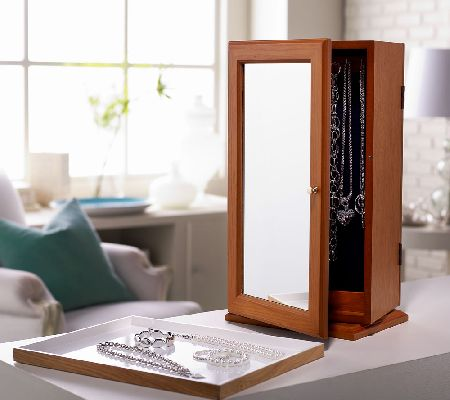 Tabletop Spinning Mirrored Jewelry Safekeeper By Lori Greiner 1000