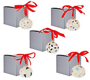Lightscapes S/5 Porcelain Handpainted Lit Ornaments with Gift Boxes - H208478