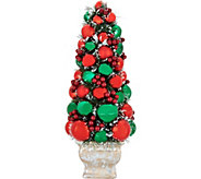As Is 21 Ornament Tree in Urn w/Pine & Berry Accents by Valerie - H214378