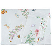 Lenox Butterfly Meadow 60x84 Water Repel Tablecloth w/ 6 Napkins - H214978