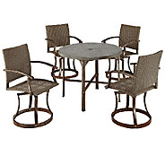 Home Styles Urban Outdoor 5-Piece Dining Set, Swivel Chairs - H284378
