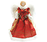 Red Scroll Angel Tree Topper by Santas Workshop - H285178