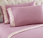 Shavel Micro Flannel Lace Edged King Sheet Set - H291578