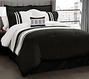 Chic Stripe 6-Piece Full/Queen Comforter Set byLush Decor - H292578
