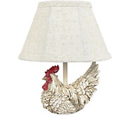 12 White Rooster Accent Lamp by Valerie - H294478