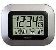 La Crosse TechnologyWS-8115U-S Atomic Digital Wall Clock - - H356378