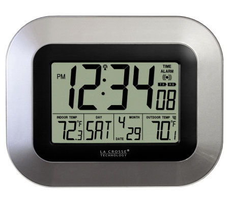 La crosse technologyws 8115u s atomic digital wall clock for Digital atomic wall clock