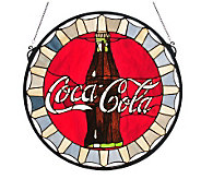 Tiffany-Style Coca-Cola Bottle Cap Stained Glass Window - H159779