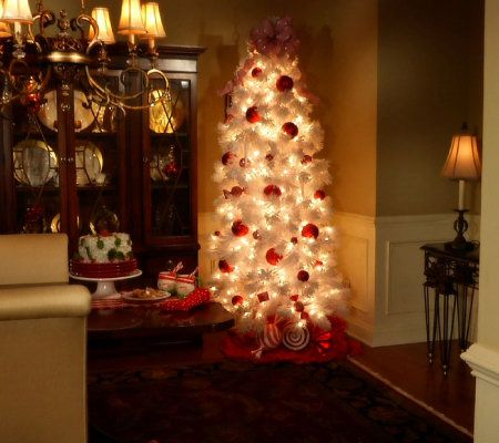 Bethlehem Lights 7.5' Flocked Tree w/ Ready Shape and 5 Year LMW ...