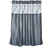 Hookless Serena 3 in 1 Shower Curtain with Floral Applique - H201379