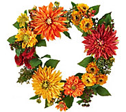 Dahlia 22-inch Wreath by Valerie - H204779