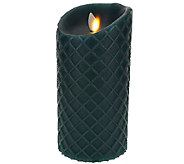 Luminara 7 Diamond Embossed Flameless with Base - H205879