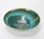 Colm De Ris Emerald Stoneware Fruit Bowl - H207979