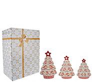 As Is Temp-tations Set of 3 Porcelain Tree Luminaries - H208079