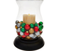 "Luminara 11"" Hurricane with 7"" Flameless Candle and Fills"