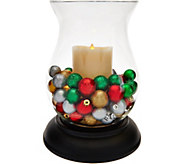 Luminara 11 Hurricane with 7 Flameless Candle and Ornament Fills - H208779