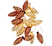 ED On Air Antiqued Pinecone Light Strand by Ellen DeGeneres - H209079