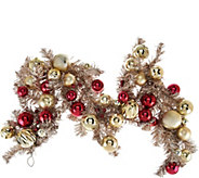 4 Red & Gold Vintage Ornament Garland - H209579