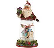 Jim Shore Heartwood Creek Santa Figurine with Glass Window Scene - H209679